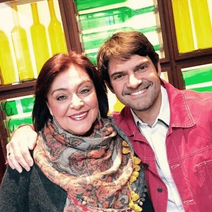 David con su madre Olga en 2016
