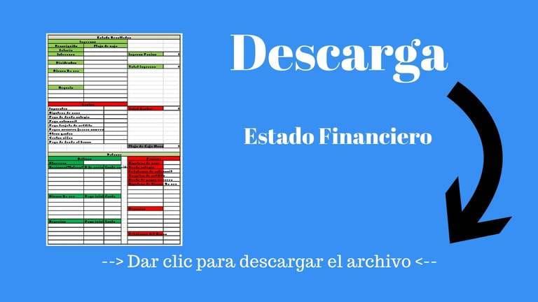 Descarga gratis el estado financiero para controlar tu dinero