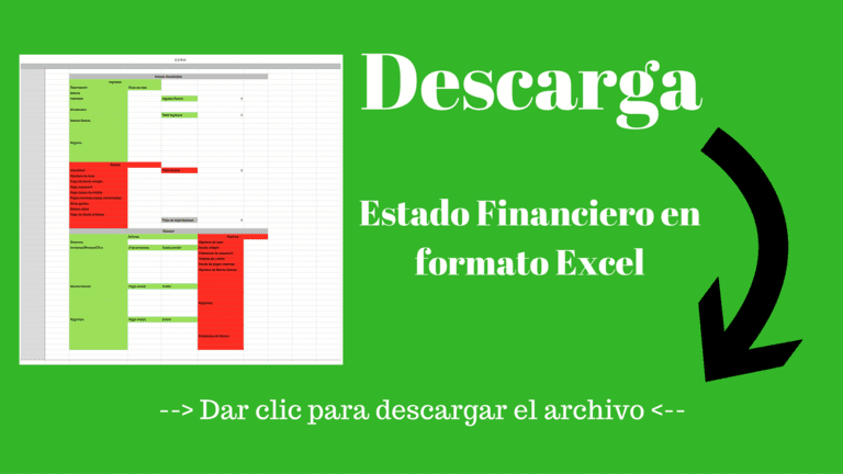 Descarga gratis el estado financiero para Excel