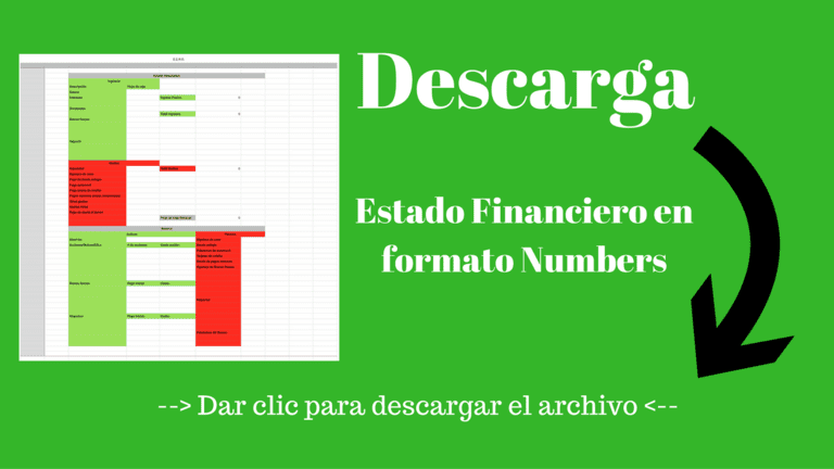 Descarga gratis el estado financiero para Numbers
