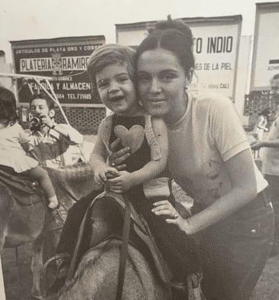 David con su madre Olga
