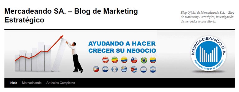 Blog de Mercadeando para aprender sobre marketing