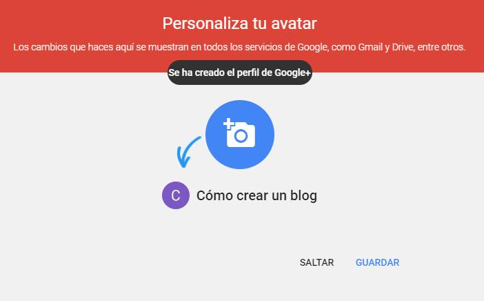 Paso 3 para crear un blog en Blogger