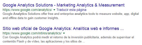 Paso 1 para la creación de cuenta para usar Google Analytics