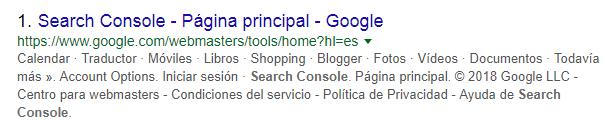 Paso 1 para la creación de cuenta para usar Google Search Console