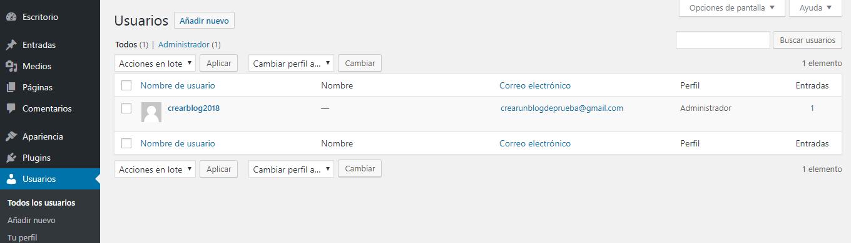 Paso 14 en ajustes básicos para crear un blog en WordPress.org