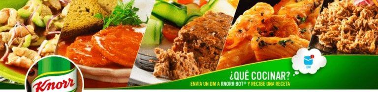 Ejemplo del chatbot en Twitter de Knorr