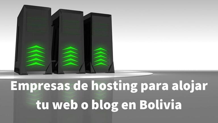 Opciones de hosting (alojamiento web) para almacenar tu página web (WordPress) recomendable en Bolivia