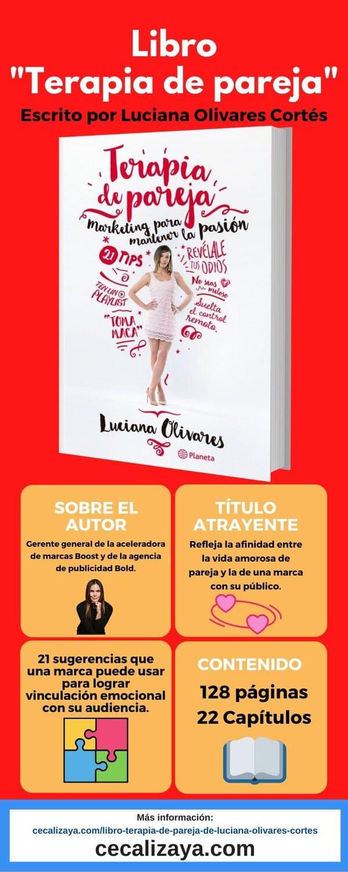 "Infografía del libro ""Terapia de pareja"" escrito por Luciana Olivares Cortés"