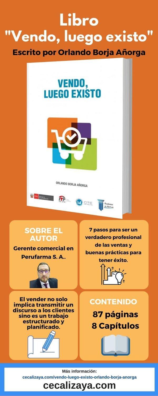 """Infografía del libro """"Vendo, luego existo"""" escrito Orlando Borja Añorga"""