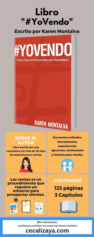 """Infografía del libro """"#YoVendo"""" escrito Karen Montalva"""