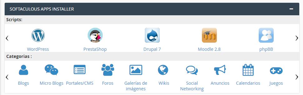 Paso 1 para instalar WordPress desde cPanel