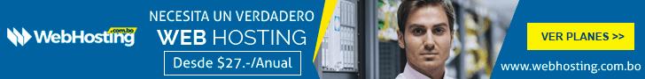 Opción de hosting para alojar tu web o blog en Bolivia