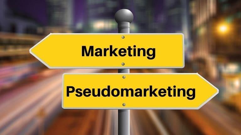 ¿Por qué estos tipos de marketing son pseudomarketing